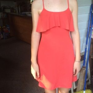 Coral Susana Monaco dress